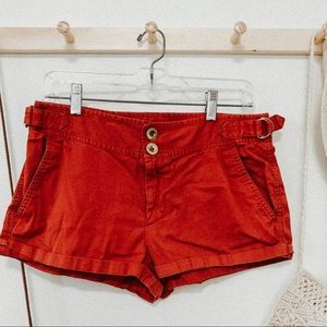 Marc By Marc Jacobs red cuffed shorts size 8